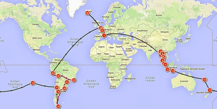 itinéraire tour du monde nohotravels